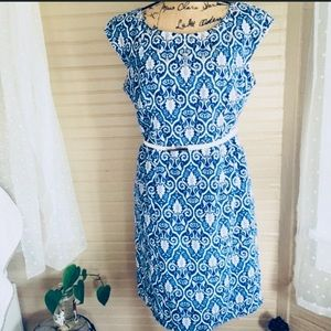 Signature by Robbie Bee Blue Dress Size 10